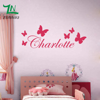 B9 Butterfly Personalised Custom Name Vinyl Wall Sticker Butterflies On The Wall Decal For Kids Room Home Bedroom Decor