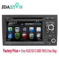 Wince6 0 Car DVD Player 7INCH Touch Screen For Audi A4 Bluetooth GPS Navigation Free Map