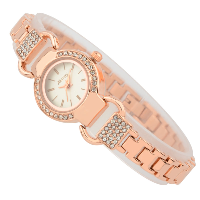 Abrray Ladies շքեղ rhinestones վարդագույն ոսկե - Կանացի ժամացույցներ - Լուսանկար 2