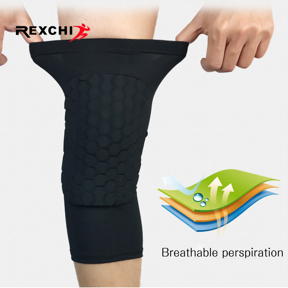 REXCHI 1PC Honeycomb Knee Pads Basketball Sport Kneepad Volleyball Knee Protector Brace Support Football Compression Leg Sleeves 2