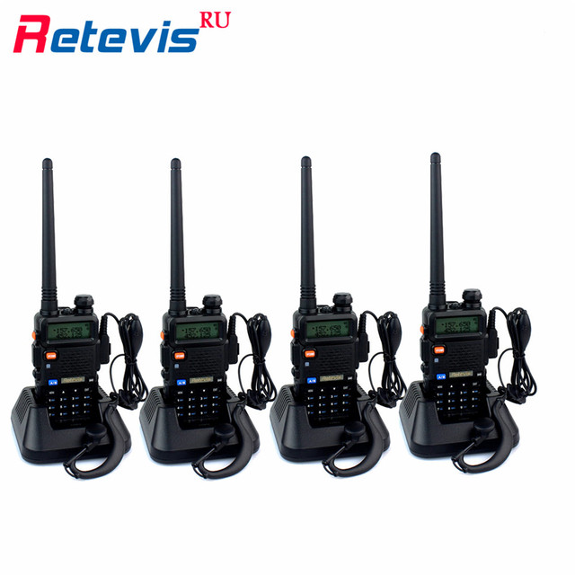 4x equipe handy rt-5r retevis walkie talkie rádio transceptor 5 w 128CH VOX Digitalização FM Presunto Rádio Portátil Conjunto Boa Comunicação ferramentas
