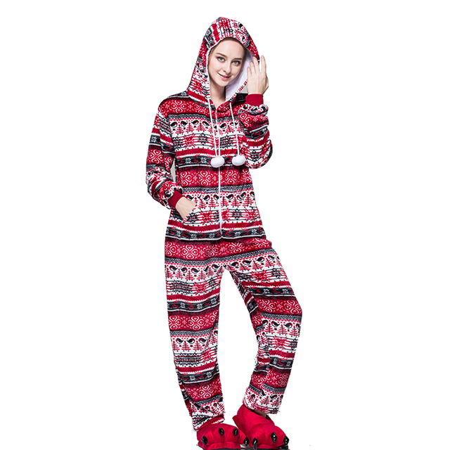 Winter Pink Snowflake Onesie Women – 21JS