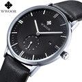 Top de luxo Da Marca Relojes Relógio Hora Data Relógio de Couro dos homens Vestido de Negócios Homens Casuais Relógio de Quartzo Relógio de Pulso do Esporte