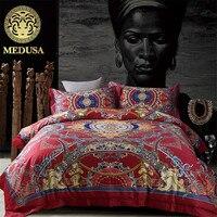Luxury 100s Damask HD Palace Bedding Set Duvet Cover Flat Sheet Pillow Cases 4pcs King Queen