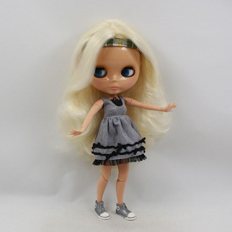 factory blyth doll 230BL340 Joint body tan skin cream white blonde hair bjd 30cm 1/6 все цены