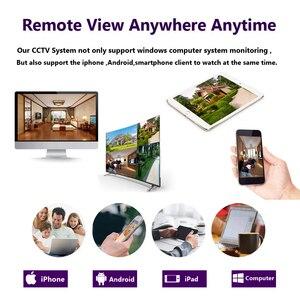 Image 5 - 4mp hd cctv 시스템 8ch ahd dvr 키트 8 pcs 4.0mp 2560*1440 6 * 어레이 led 보안 카메라 야외 감시 키트 쉬운 원격보기