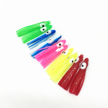 10Pcs Fishing Octopus Bait 3CM Threads Skirts Trolling Sea Squid Skirt Jig lure Rubber Baits Soft Lures