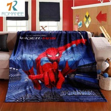 Children Spiderman Blanket Cartoon Printed Soft Boy Girl Baby Coral Fleece Blankets 100x140cm Spring Thick Warm Sofa Bed Sheets free shipping infant children cartoon thick coral cashmere blankets baby nap blanket baby quilt size is 110 135 cm t01