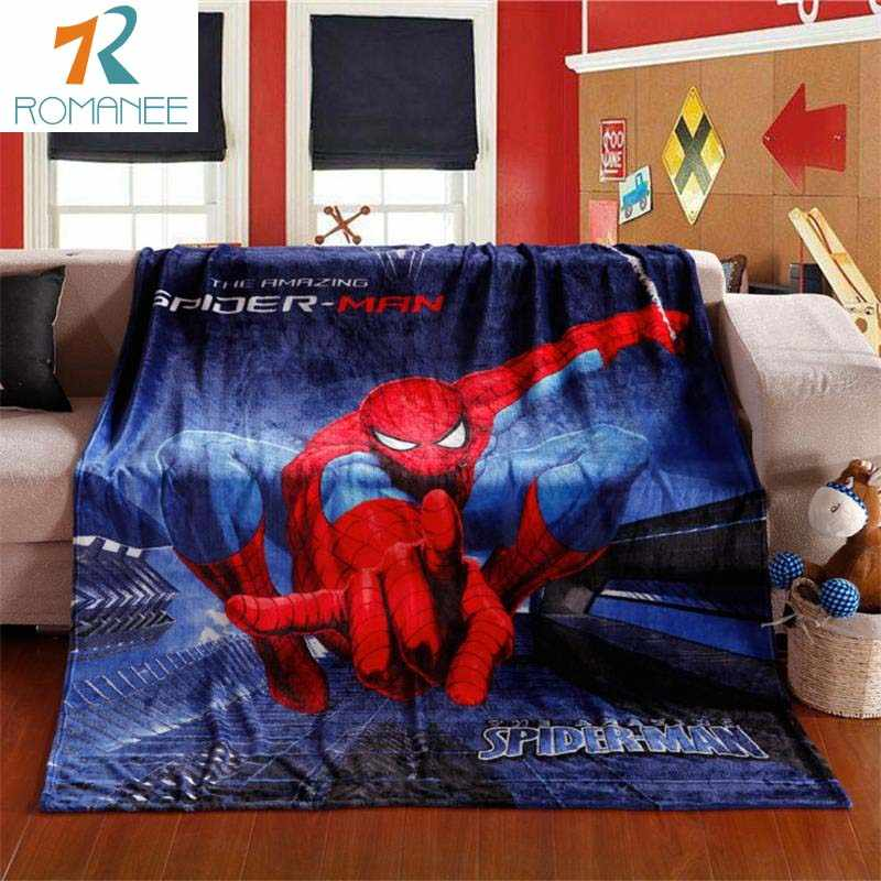 Crianças Spiderman Cobertor Coral do Velo Cobertores Do Bebê Da Menina do Menino Dos Desenhos Animados Impresso Macio 100x140 cm Primavera Grosso Quente Sofá lençóis