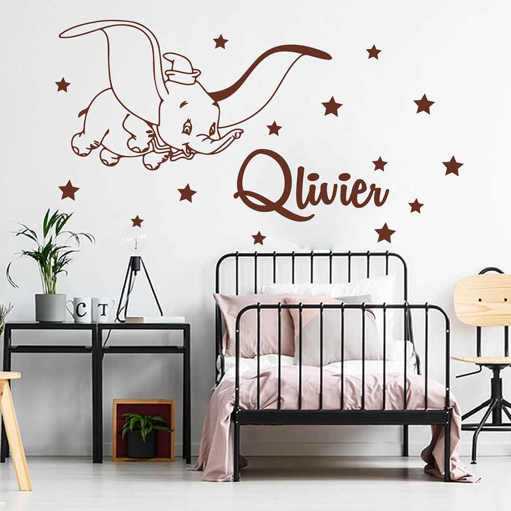 Dessin D Une Chambre D Enfant autocollant mural pour chambre d'enfants, nom personnalisé