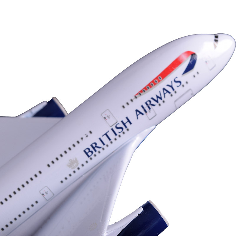 20cm A380 Great British Airplane Model England Air Passenger Airbus Alloy Aircraft Airways Model Travel Holiday Birthday Gift