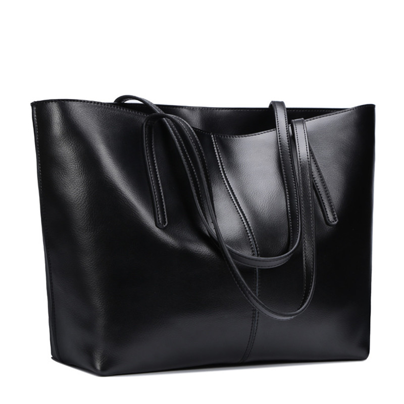 Genuine Leather Bag Female Large Shoulder Bag for Women Big Black Luxury Famous Brand Women Leather Handbag bolsa feminina bolso fashion leather women shoulder big bag genuine leather cowskin paste brand luxury leather message women bag 7 colors p1006a