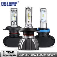 Oslamp H4 H7 H11 H1 H3 9005 Car LED Headlight Bulbs Hi lo Beam CSP Chips 50W 6500K 8000lm Headlights Auto Led Headlamp 12v 24v