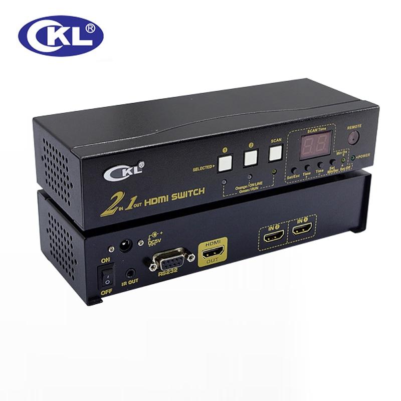 CKL Auto VGA Audio Switch 2/4/8/16 Port Video Audio Switcher 2048*1536 450MHz wih IR Remote RS232 Control 21S 41S, 81S, 161S
