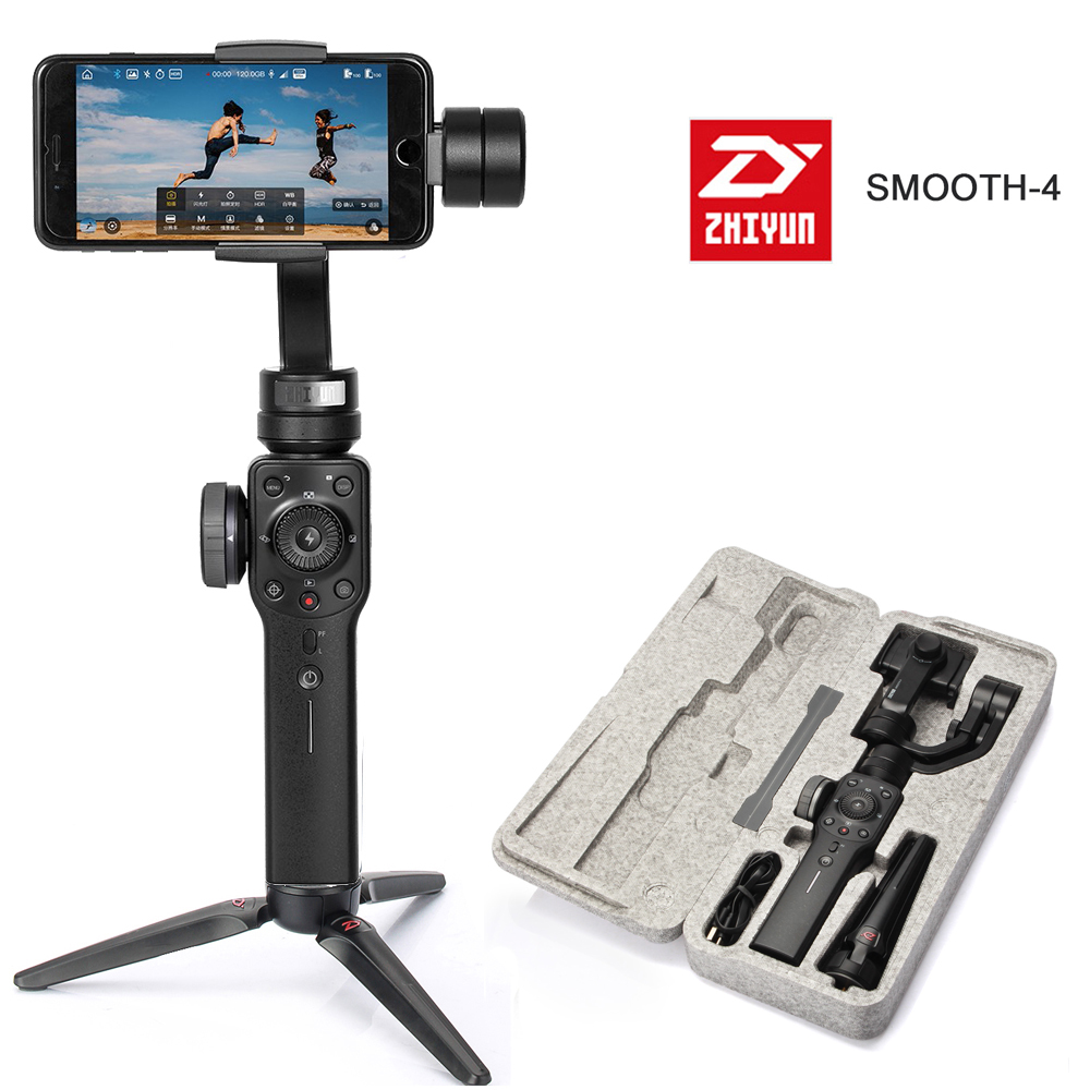 Zhiyun Smooth 4 3 Axis Handheld Smartphone Gimbal Stabilizer VS Zhiyun Smooth Q Model for iPhone X 8Plus 8 7 6S Samsung S9 S8 zhiyun smooth q 3 axis handheld gimbal stabilizer for smartphone
