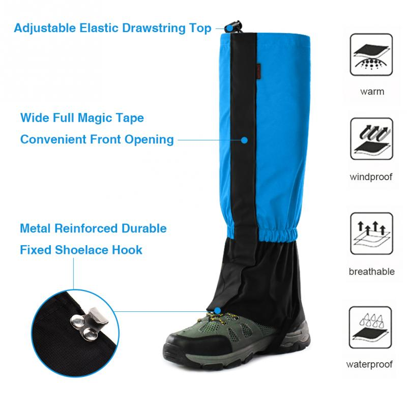 Waterproof Snow Covers Outdoor Meadows Skiing Leg Gaiters Boots Shoes Cover Men Women Dirt proof Hiking Walking Climbing Hunting