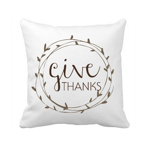 Custom Letter <font><b>Cushion</b></font> Cover Give Thanks Throw Pillow Covers White Canvas Decorative Pillow Cases for Bedding Wedding <font><b>Home</b></font> Decor