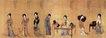 portrait paintings traditional Chinese portrait canvas paintings ancient 100 beauties details masterpiece reproduction