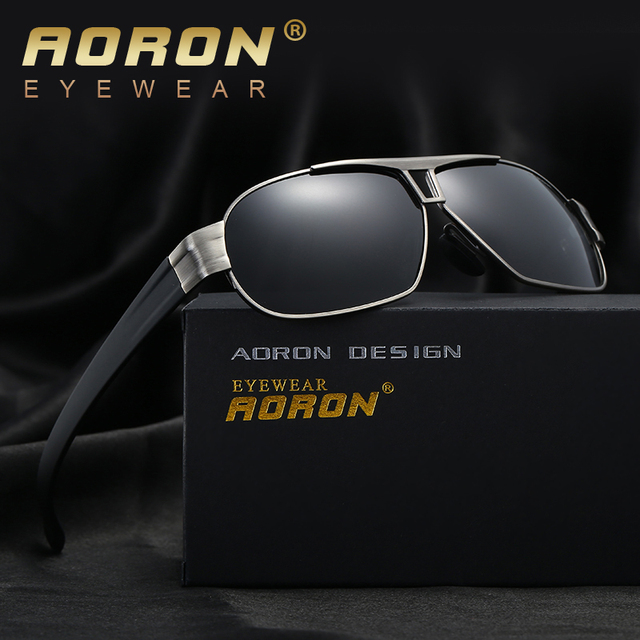 dfe4bbbf59 AORON Brand Designer Men s Sunglasses Polarized Len Sun Glasses Male  Eyewear Accessories For Men oculos de