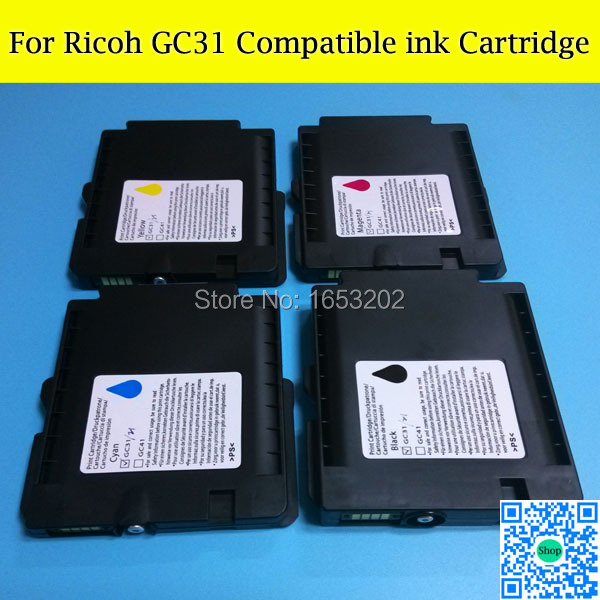 40 Pieces/Lot Full Sublimation Ink Cartridge For Ricoh GC31 gxe7700n gxe7700 gxe5550n gxe3300 gxe3350 gxe5500 gxe2600 Printer