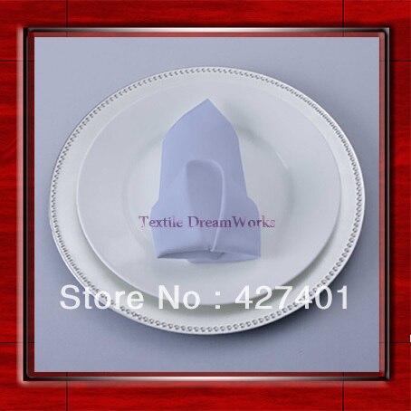 High Quality 45x45cm Powder Blue Polyester Plain Napkin / Table Napkin / Hotel Napkin / Dinner Napkin (Factory Direct Sale)