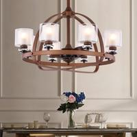 Simple Retro Electric Fan Chandelier Home Bedroom Living Room Silent Fan Restaurant LED Fan
