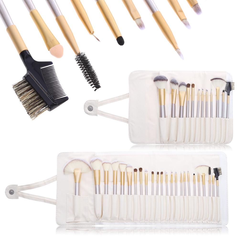 12/24 PCS Makeup Brushes Set Pincel Maquiagem Make up Brushes Powder Foundation Eyeliner Eyeshadow Lip Brush Cosmetic Tool + Bag make up factory automatic eyeliner 24 цвет 24 smokey plum variant hex name 474995