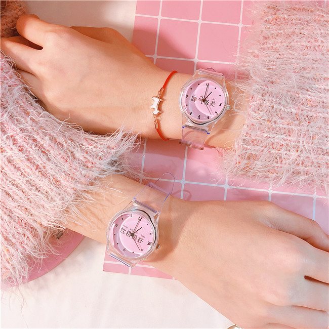 2018 New Silicone Candy Jelly Girl Watch Soft Girl Student Color Japanese Cartoon Watch Fashion Character Children Wristwatch