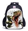 2017 Dinosaurio Jurásico Parque Temático Niños Mochilas Bolsos de Escuela de Impresión de Dibujos Animados Para Niños Niños Niños Mochila Infantil