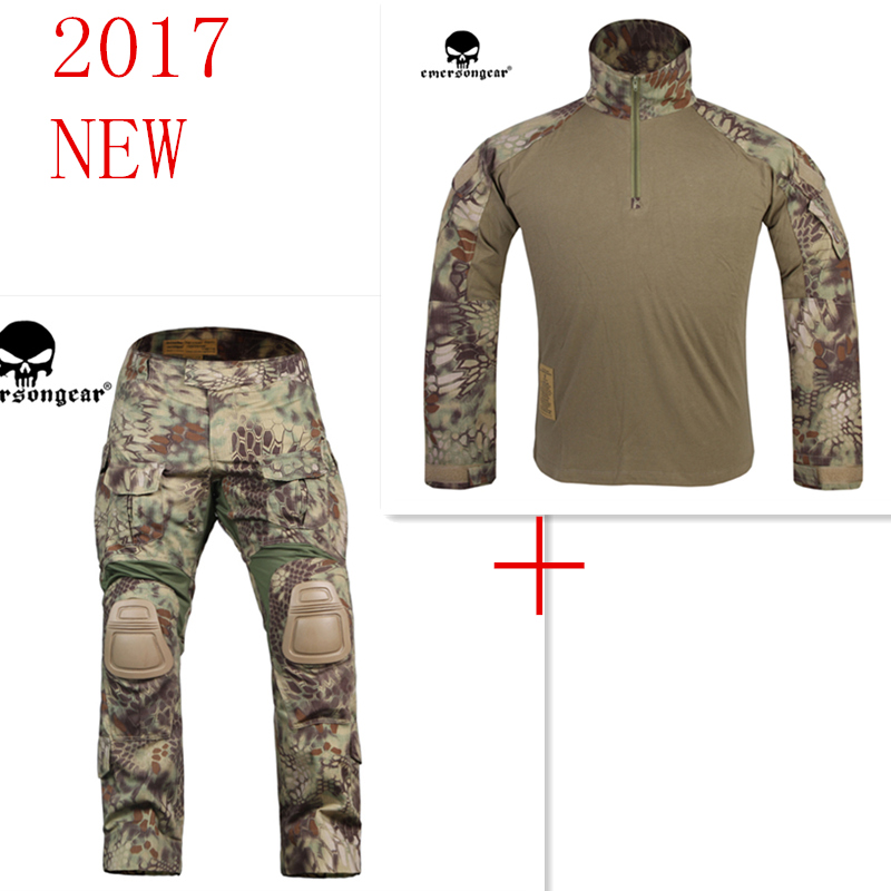 Kryptek Mandrake Emerson bdu G3 uniform shirt Pants with knee pads Suits airsoft waregame Hunting MR EM8593+7046