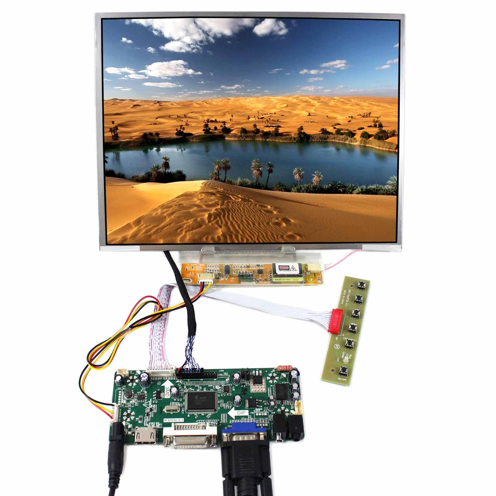 12.1 LCD Display 1024x768 1CCFL Backlight HDMI VGA DVI Audio LCD Controller Board12.1 LCD Display 1024x768 1CCFL Backlight HDMI VGA DVI Audio LCD Controller Board