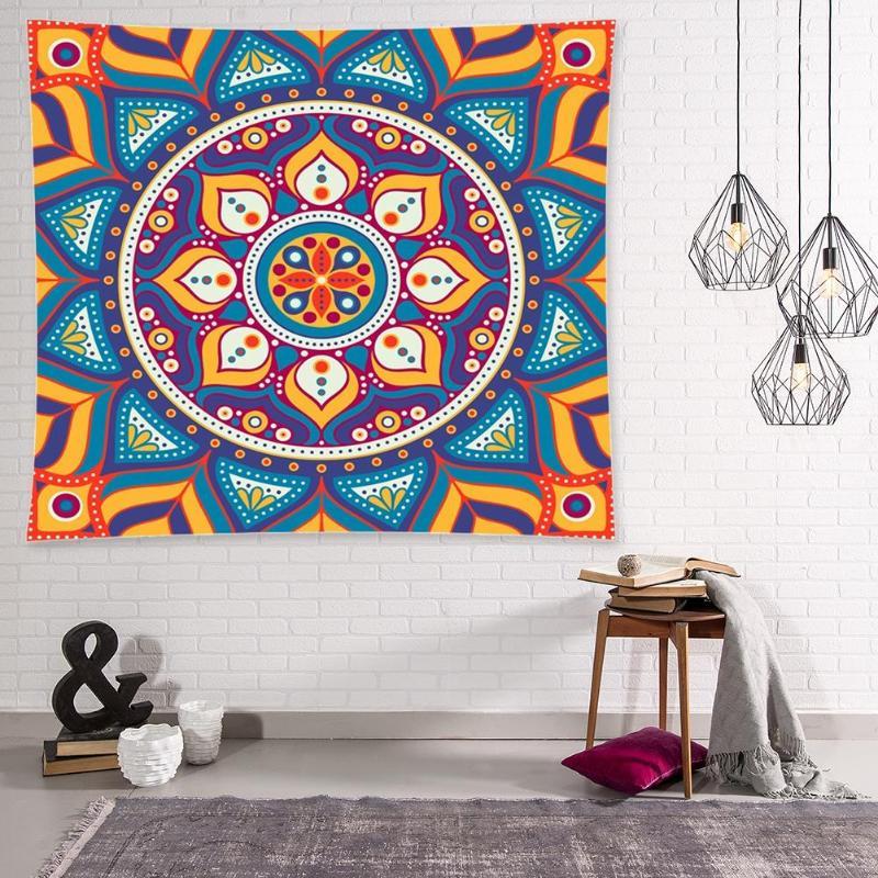 <+>  Мандала Гобелен  Висит на стене Одеяло Boho Beach Коврик для йоги Home Art Carpet 36 ✔