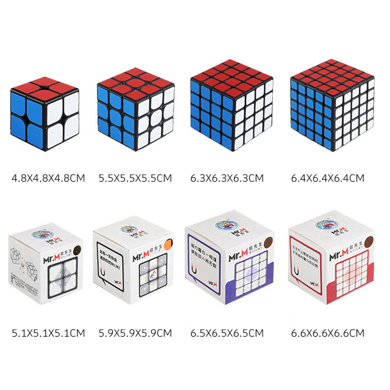 SHENGSHOU Mr.M 2x2x2 3x3x3 4x4x4 5*5*5 Magnetic Magic Cube Speed Puzzle 2x2 3x3 4x4 5x5 Cube Educational Magico Cubo Toys Gifts