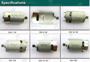 Image 3 - Factory direct HRS 550S 10.8 Voltage 9 Toothed Gear ( 8mm) DC motor of Electric drill