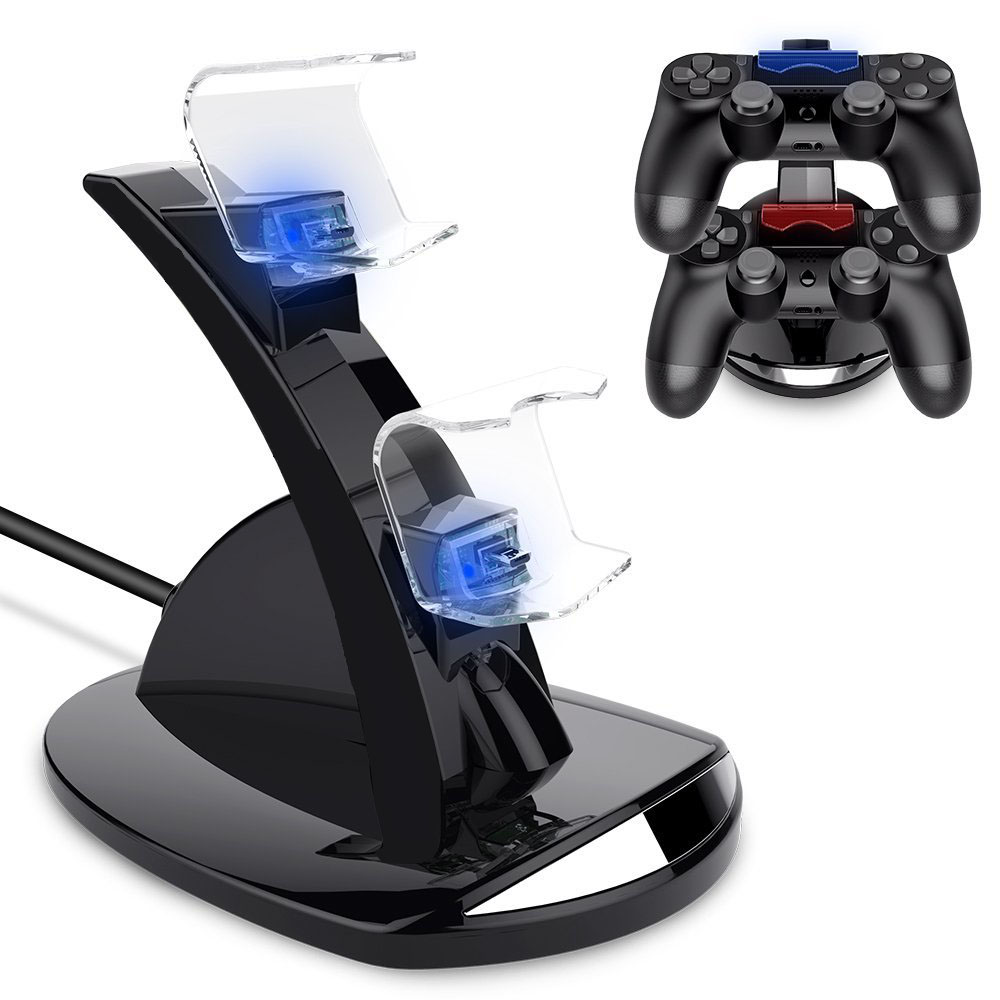 USB Dual Controller Charger For Sony PS4 Gamepad Fast Charging Dock For Playstation 4 Double Joystick Charging For Juegos De PS4