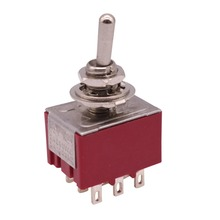 4 pcs ON-OFF-ON 9 Pin 2 Position Mini Latching Toggle Switch 2A 250VAC/5A 120VAC Buttons Sensor Switch Motion Sensor Manufacture