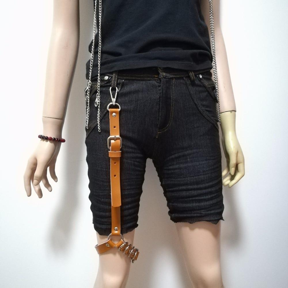Women's Belts Sexy Women New Fashion Harajuku Single Strap Clip Leather Punk Metal Hook Adjustable Leg Ring Handmade Sock Garter Unisex Belt