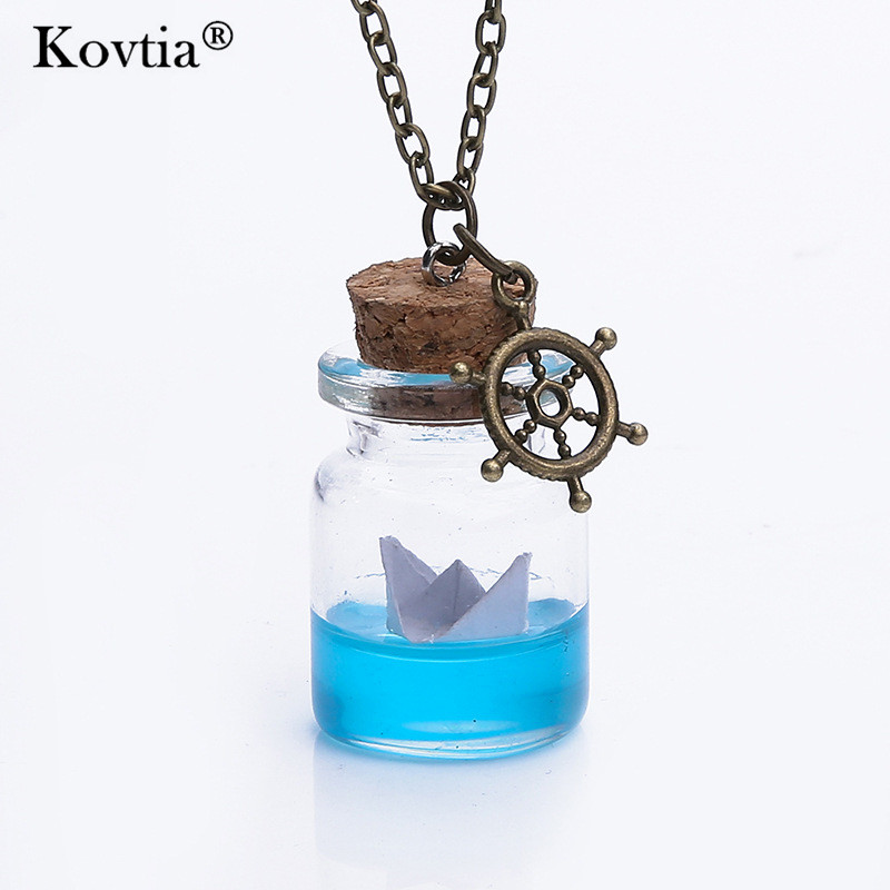 ad95306568ee Kovtia New Arrival Personality Sea Water Paper Boat Drift Bottle ...