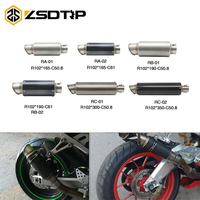 ZSDTRP Universal 51MM 60MM Modified Motorcycle Exhaust Pipe Muffler SC Exhaust Pipe GSXR750 R6 ER6N R1 CBR300 R6 R3