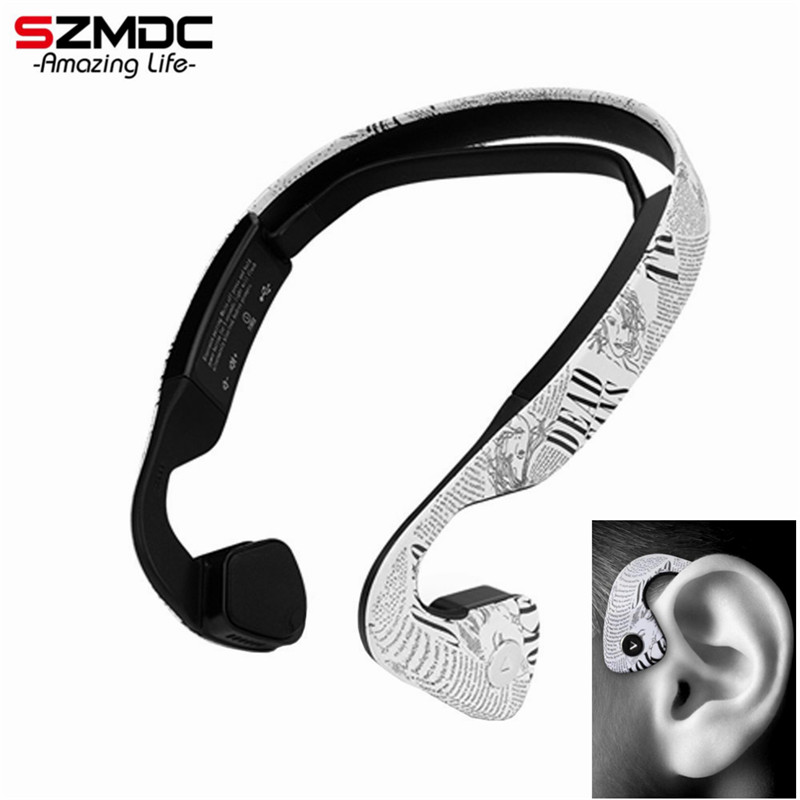 Open Ear Bone Conduction Bluetooth Headset Wireless Headphone HD Stereo Sound Anti-Sweat Handfree Control for Sports Headset for cobra garmin two way radios in ear stlye bone conduction headset