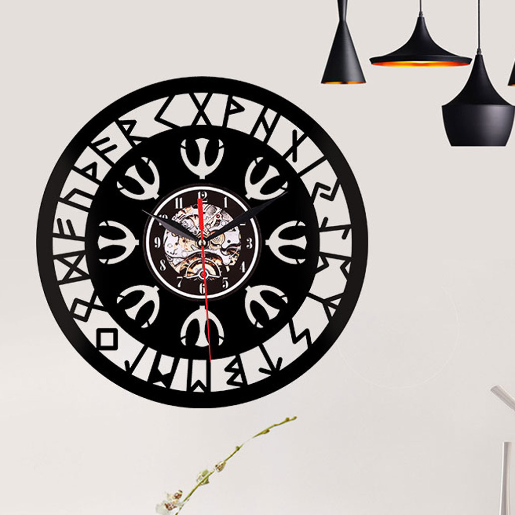 Picture of: Best Selling 2019 Products Creative Style Non Ticking Silent Antique Rubber Wall Clock For Home Kitchen Wall Clocks Aliexpress