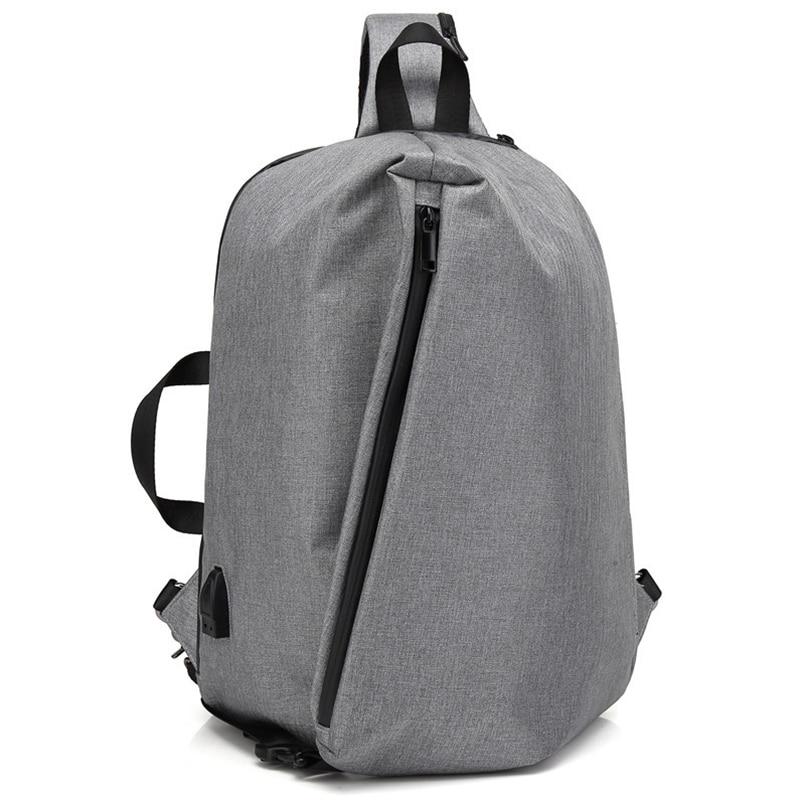 New USB Charging Backpacks Men Korean Bag pack Shoulder bags for women Strap Anti Theft Backpack Crossbody Chest Bag sac Mochila