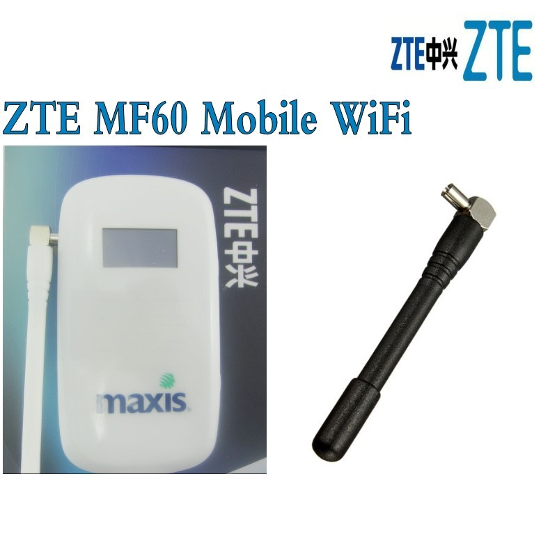 Lot of 100pcs <font><b>ZTE</b></font> <font><b>MF60</b></font> - Unlocked 21Mbps HSPA 3G Wireless Mobile Wifi Hotspot Router,DHL delivery image