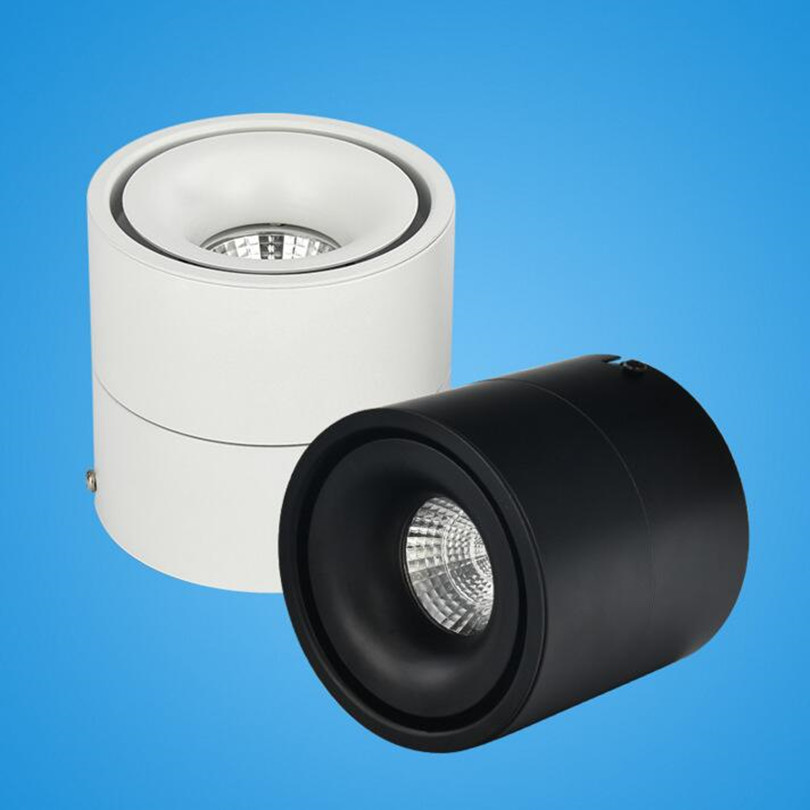 ONDENN Free Shipping Dimmable <font><b>LED</b></font> Recessed <font><b>Downlights</b></font> 15W <font><b>20W</b></font> <font><b>COB</b></font> <font><b>LED</b></font> Ceiling Lamps Surface Mounted 360 Degree Rotatable 4pcs image