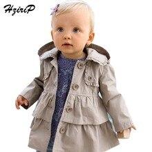 Лидер продаж 2016 года, новые модные теплые осенние куртки для маленьких девочек длинное пальто с капюшоном для маленьких девочек, платье для детей Детское пальто детская одежда