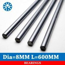 1Pc 8mm Linear Shaft Chrome OD 8mm L 600mm WCS Harden Steel Rod Bar Cylinder Linear Rail CNC 3D printer