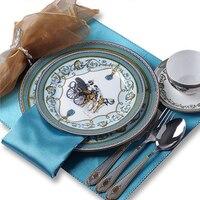 Европейский Западной пластины глазурь костяного фарфора стейк посуда отель образец номер Керамика украшения
