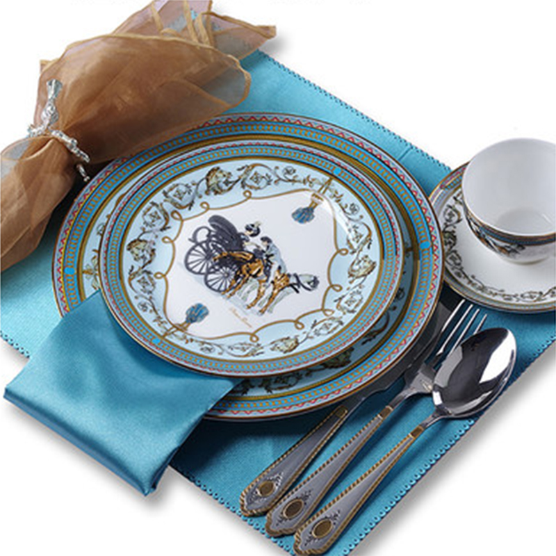 Европейский Западный Набор тарелок глазури костяного фарфора стейк столовая посуда пример отеля номер керамические украшения