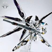 Discothèque en STOCK metal, boîtier en STOCK, construction métallique en métal, MB, Gundam, liberté avec couleur blanche, figure daction de haute qualité