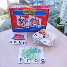 Match-It Puzzle-uri pentru copii Educație timpurie Copii Toy Board Game Puzzle Jocuri de cărți pentru copii Învățământ timpuriu Spelling Number Time